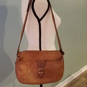 Brown Leather Saddle Bag Crossbody Purse